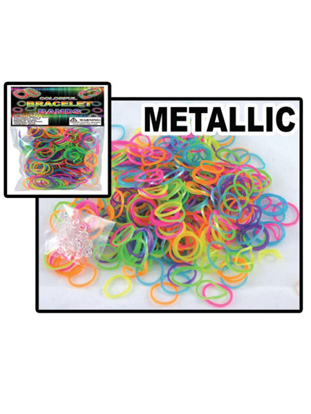 Metalic Loom Bracelet Band Bags -WEB